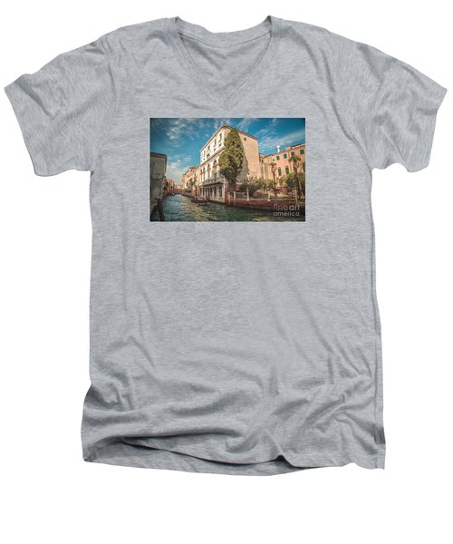 Venetian Architecture And Sky - Venice, Italy Men's V-Neck T-Shirt