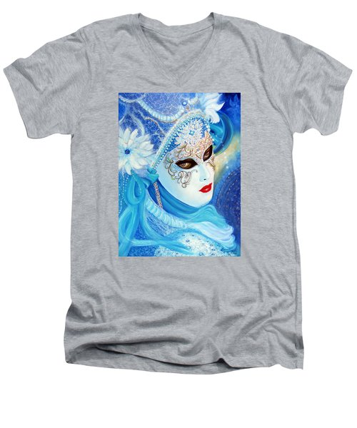 Venetian Carnival Mask 2015 Men's V-Neck T-Shirt