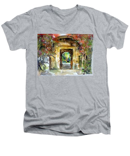 Venetian Gardens Men's V-Neck T-Shirt