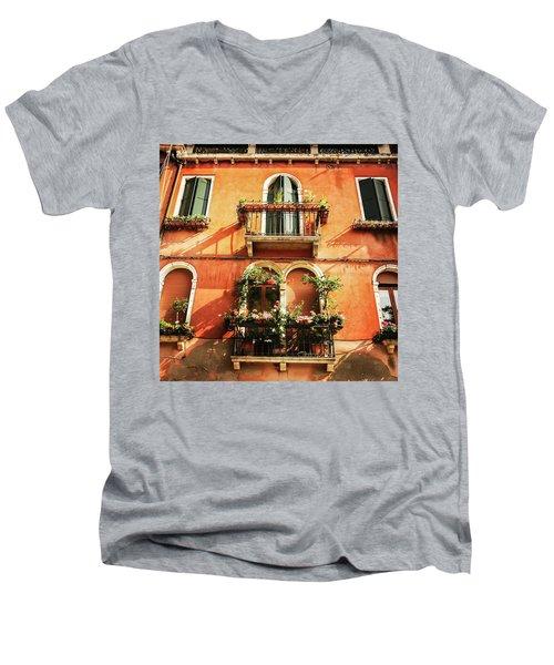 Venetian Windows Men's V-Neck T-Shirt