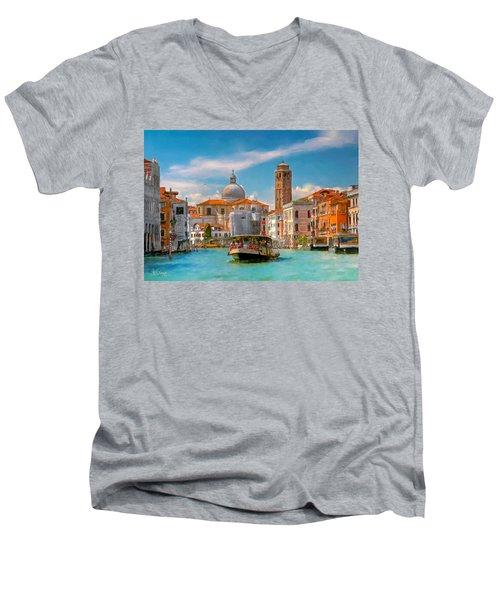 Venezia. Fermata San Marcuola Men's V-Neck T-Shirt