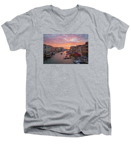 Venice At Sunset - Italy Men's V-Neck T-Shirt