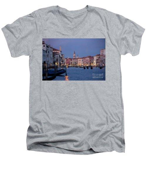 Venice Blue Hour 2 Men's V-Neck T-Shirt