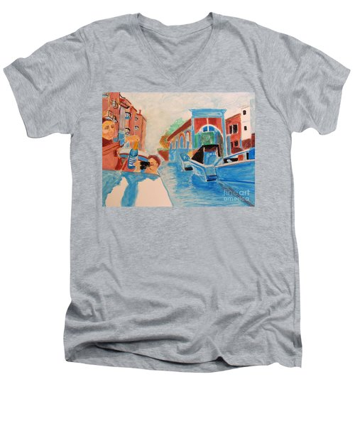 Venice Celebration Men's V-Neck T-Shirt