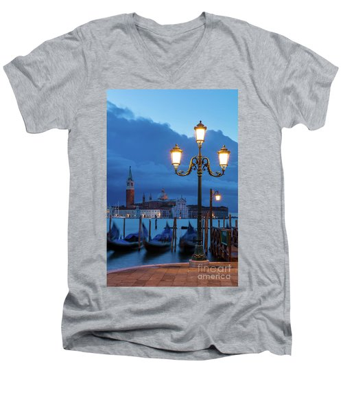Men's V-Neck T-Shirt featuring the photograph Venice Dawn V by Brian Jannsen