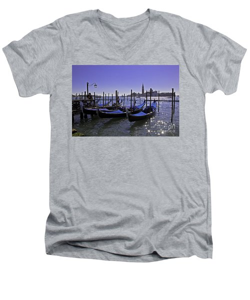 Venice Is A Magical Place Men's V-Neck T-Shirt by Madeline Ellis