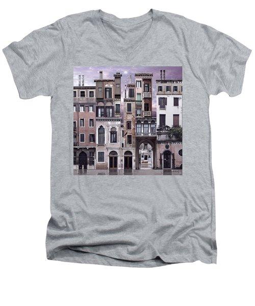 Venice Reconstruction 1 Men's V-Neck T-Shirt by Joan Ladendorf