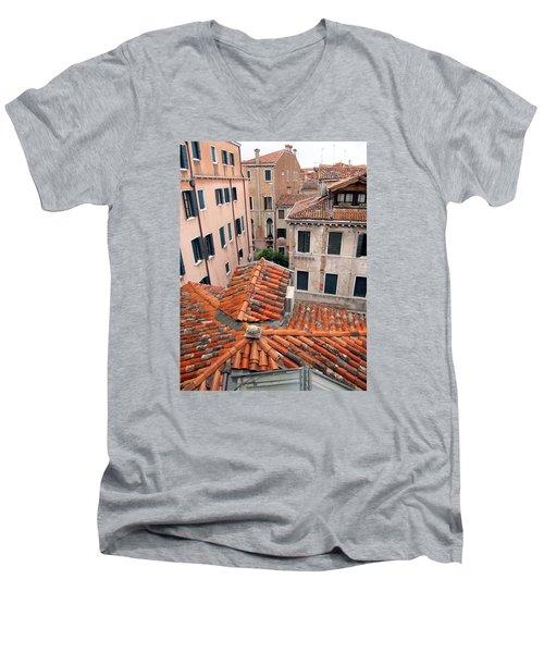 Venice Roof Tiles Men's V-Neck T-Shirt by Lisa Boyd