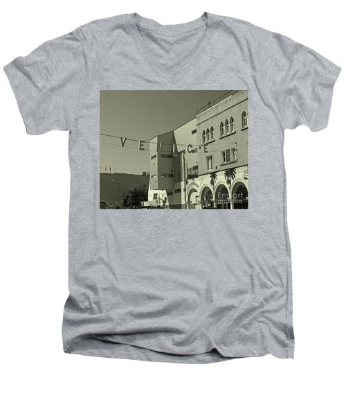 Venice Sign Men's V-Neck T-Shirt