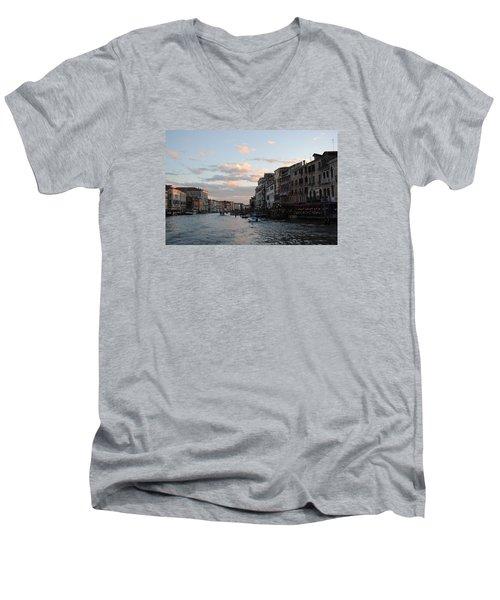 Venice Sunset Men's V-Neck T-Shirt by Robert Moss