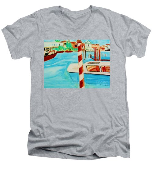 Venice Travel By Boat Men's V-Neck T-Shirt