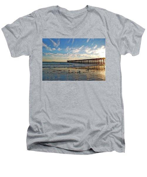 Ventura Pier At Sunset Men's V-Neck T-Shirt