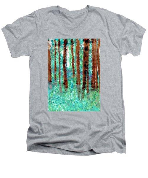 Verdant Vistas Men's V-Neck T-Shirt