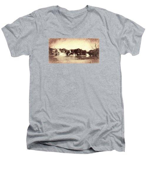 Vergennes Falls, Vt 2015 Men's V-Neck T-Shirt by Rena Trepanier