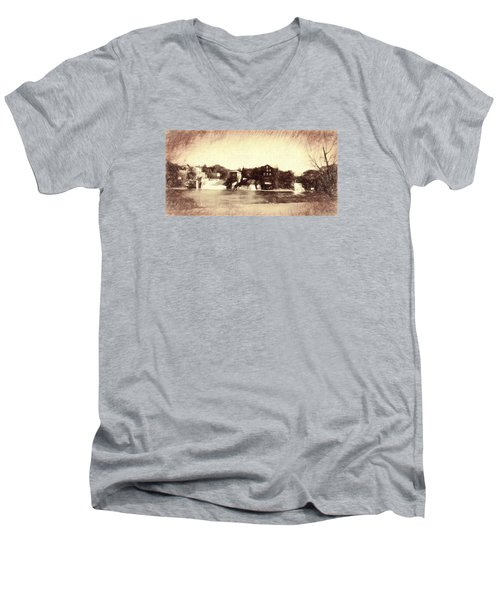 Vergennes Falls, Vt 2015 Men's V-Neck T-Shirt