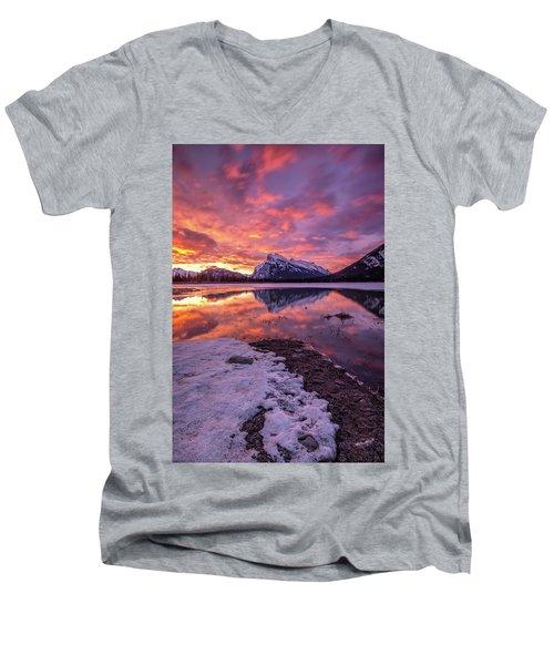 Vermillion Splendour Men's V-Neck T-Shirt