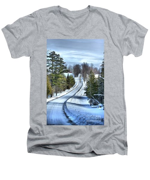 Vermont Country Landscape Men's V-Neck T-Shirt