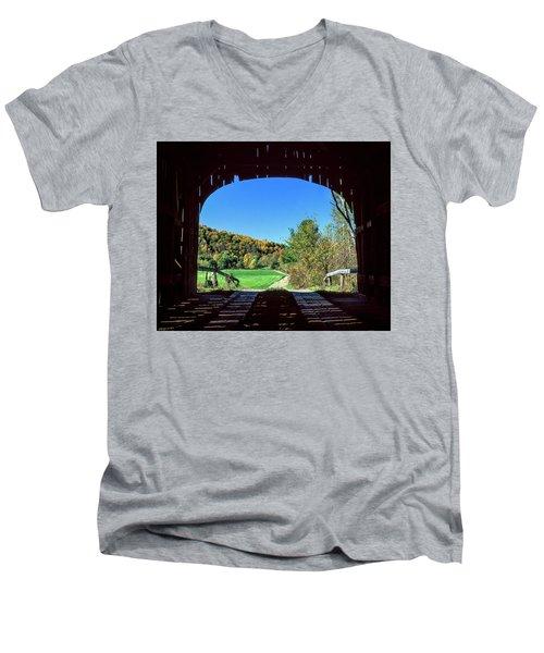 Vermont Covered Bridge Men's V-Neck T-Shirt
