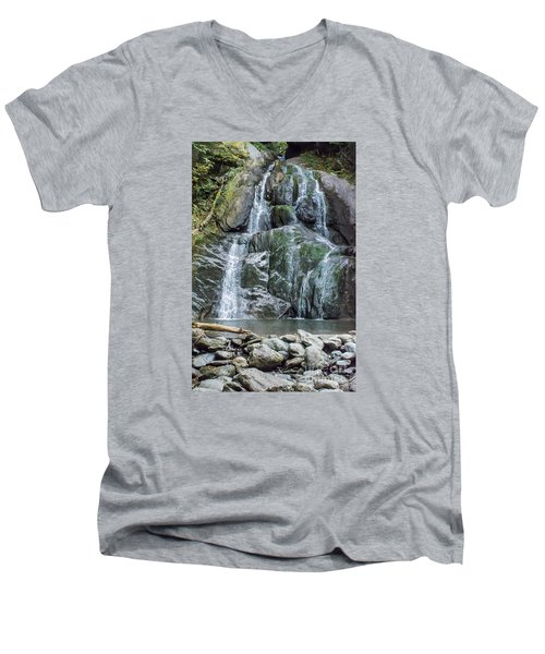 Vermont Waterfall Men's V-Neck T-Shirt