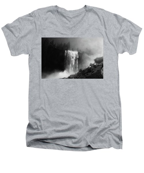 Vernal Fall And Mist Trail Men's V-Neck T-Shirt