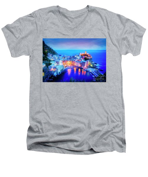Vernazza At Dusk Men's V-Neck T-Shirt