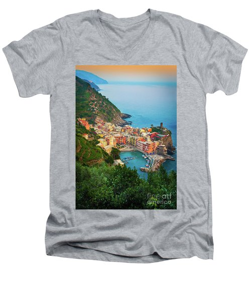 Vernazza From Above Men's V-Neck T-Shirt