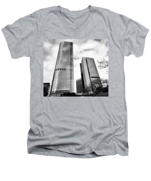 Vertical Growth Men's V-Neck T-Shirt by Joseph Hollingsworth