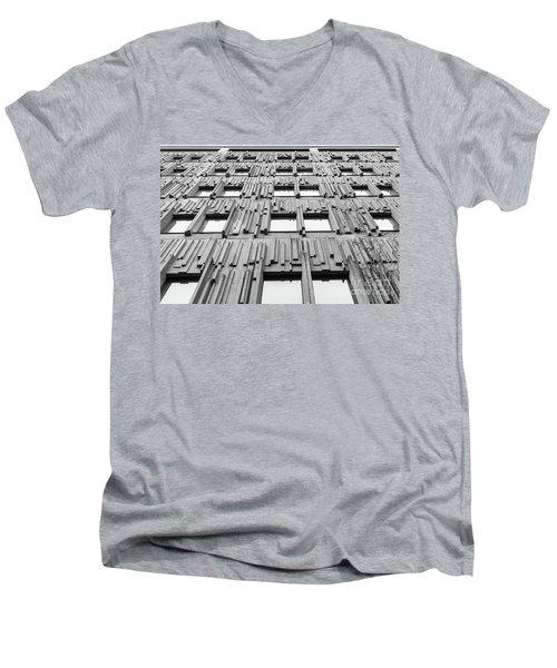 Vertical Lines Men's V-Neck T-Shirt