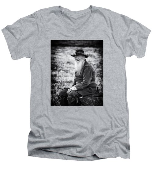 Veteran Soldier Men's V-Neck T-Shirt by Alan Raasch