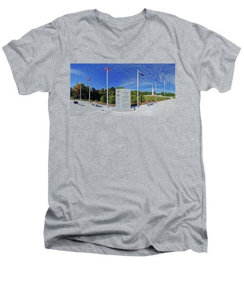 Veterans Freedom Park, Cary Nc. Men's V-Neck T-Shirt by George Randy Bass
