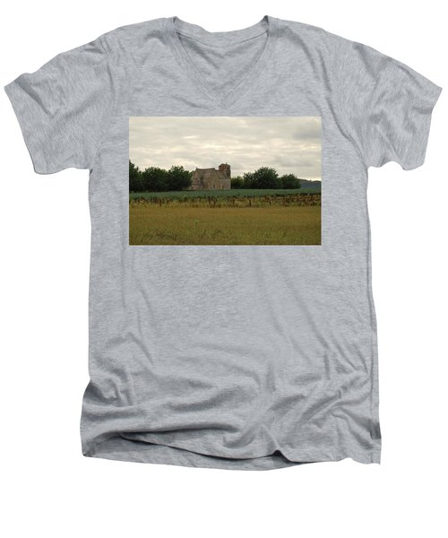 Vezac Church 1300 Men's V-Neck T-Shirt