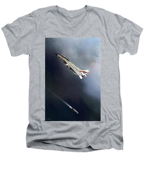 Vf-41 Black Aces Men's V-Neck T-Shirt
