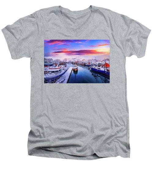 Vibrant Norway Men's V-Neck T-Shirt