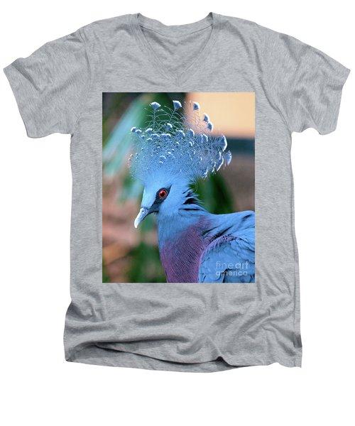Victoria Crowned Pigeon Men's V-Neck T-Shirt
