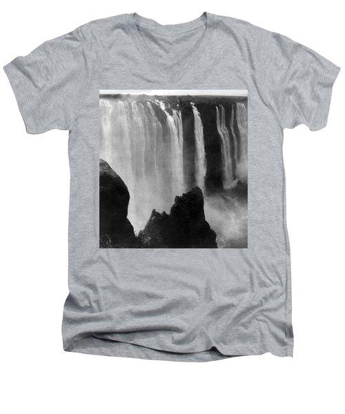 Victoria Falls - C 1911 Men's V-Neck T-Shirt