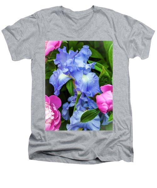 Victoria Falls Iris Men's V-Neck T-Shirt