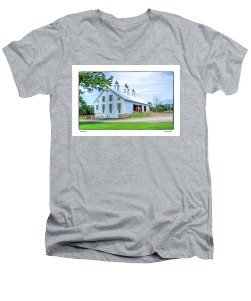 Men's V-Neck T-Shirt featuring the photograph Victorian Barn by R Thomas Berner