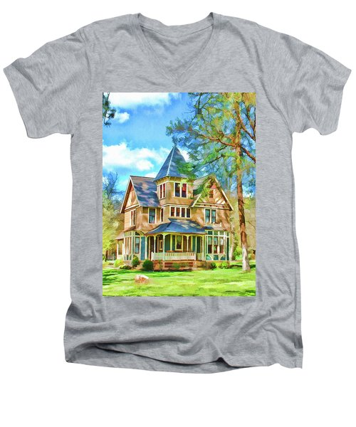 Victorian Painting Men's V-Neck T-Shirt