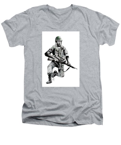 Vietnam Infantry Man Men's V-Neck T-Shirt