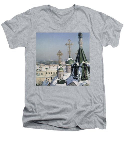View From A Window Of The Moscow School Of Painting Men's V-Neck T-Shirt
