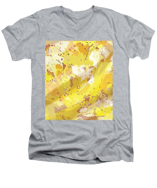 View From Above In Yellow Men's V-Neck T-Shirt