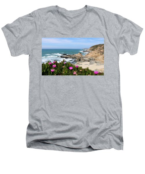 View From Bodega Head In Bodega Bay Ca - 3 Men's V-Neck T-Shirt