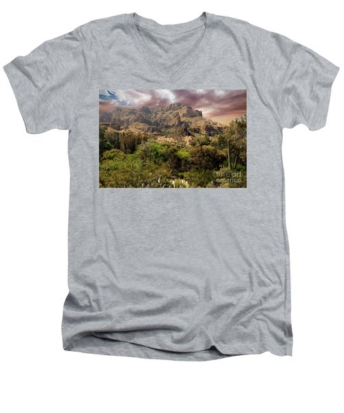View From Boyce Thompson Men's V-Neck T-Shirt by Anne Rodkin