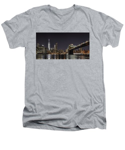 View From Brooklyn Bridge Park Men's V-Neck T-Shirt
