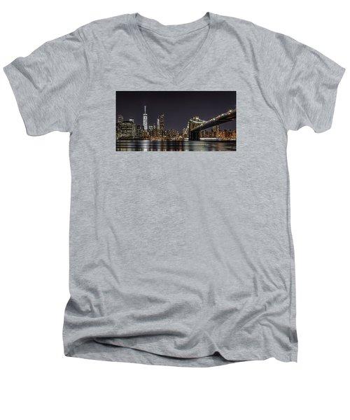 View From Brooklyn Bridge Park Men's V-Neck T-Shirt