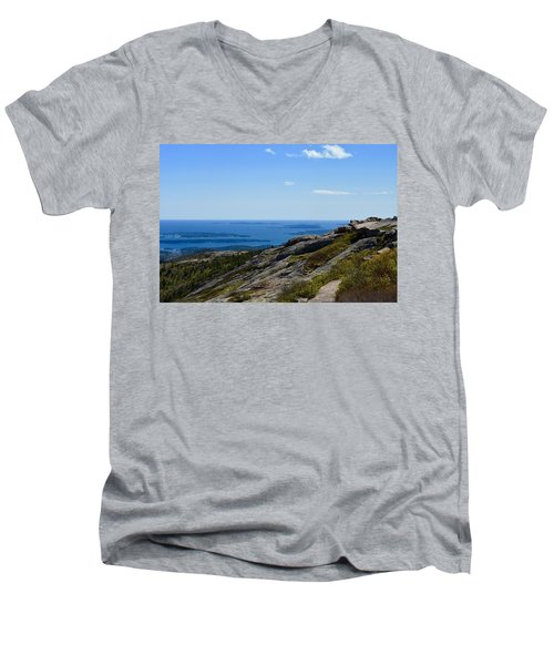 View From Cadillac Mountain Men's V-Neck T-Shirt
