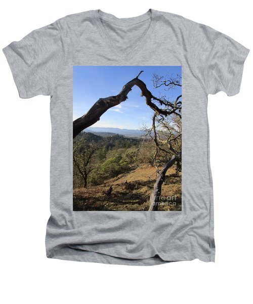 View From Cathedral Hills Men's V-Neck T-Shirt