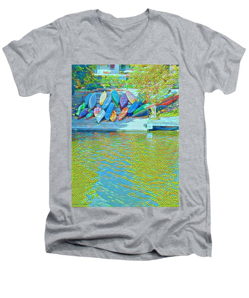 View From East Side Boardwalk Men's V-Neck T-Shirt