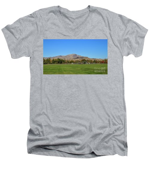 View From Gem Island Sport Complex Men's V-Neck T-Shirt