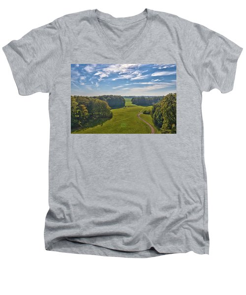 View From Lilac Mountain Men's V-Neck T-Shirt